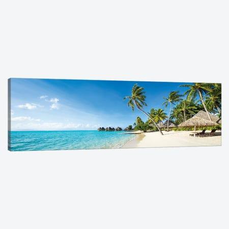 Beach Resort On Bora Bora, French Polynesia Canvas Print #JNB182} by Jan Becke Canvas Wall Art