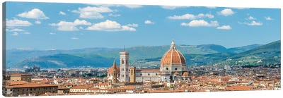 Florence Skyline Panorama With Florence Cathedral, Tuscany, Italy Canvas Art Print