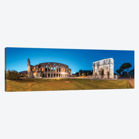 Colosseum And Arch Of Constantine At Night, Rome, Italy Canvas Print #JNB1839} by Jan Becke Art Print