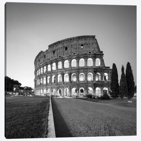 Colosseum In Black And White, Rome, Italy Canvas Print #JNB1843} by Jan Becke Canvas Artwork