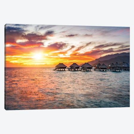 Sunset In The South Sea On Bora Bora Canvas Print #JNB186} by Jan Becke Canvas Print