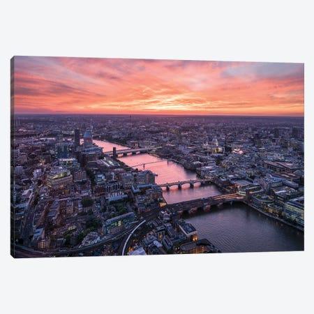 London Skyline At Sunset Canvas Print #JNB1886} by Jan Becke Canvas Print