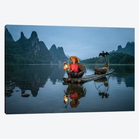 Chinese Kormoran Fisherman Canvas Print #JNB18} by Jan Becke Canvas Artwork