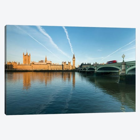Palace Of Westminster And Big Ben At Sunrise Canvas Print #JNB197} by Jan Becke Canvas Artwork