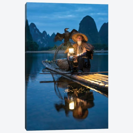 Chinese Kormoran Fisherman, Guilin Canvas Print #JNB19} by Jan Becke Canvas Artwork