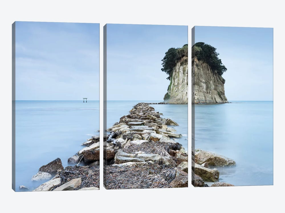 Mitsukejima Island Near Suzu by Jan Becke 3-piece Canvas Art