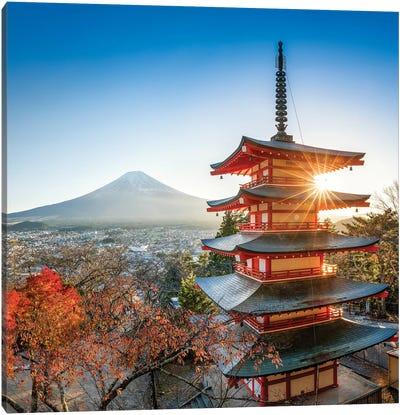 Chureito Pagoda In Autumn Canvas Art Print
