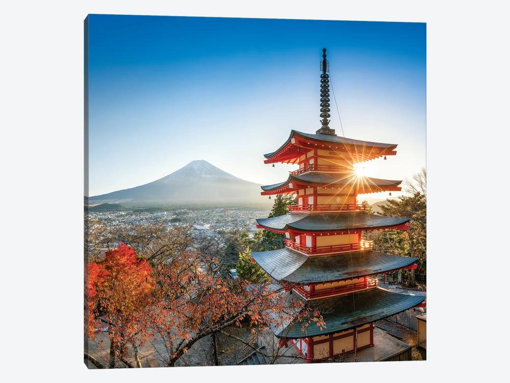 Chureito Pagoda In Autumn by Jan Becke 1-piece Canvas Artwork