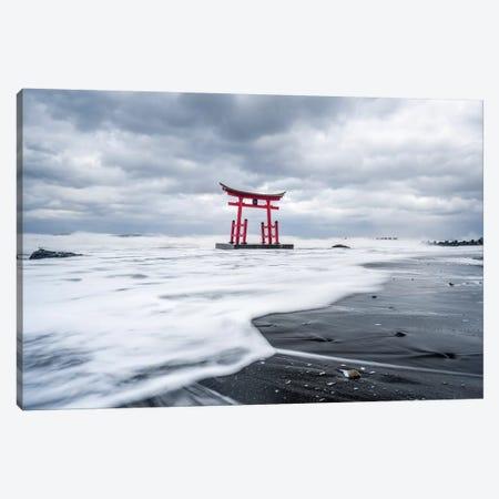 Red Torii Gate Near Shosanbetsu, Japan Canvas Print #JNB220} by Jan Becke Canvas Print