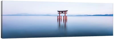 Floating Torii Gate At Lake Biwa, Japan Canvas Art Print