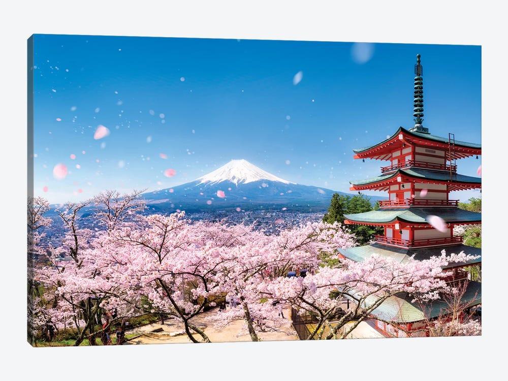 Chureito Pagoda In Spring by Jan Becke 1-piece Canvas Print