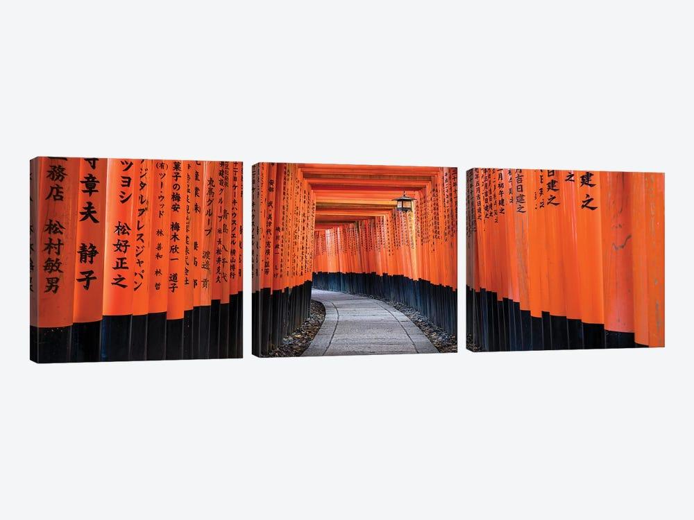 Fushimi Inari Taisha In Kyoto, Japan by Jan Becke 3-piece Canvas Art