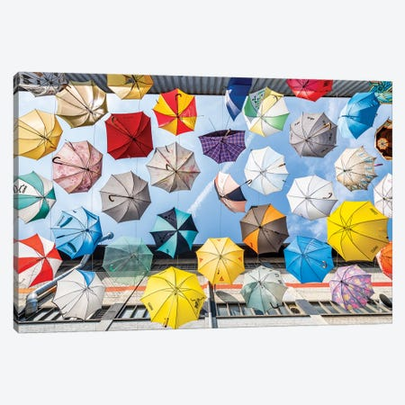 Colourful Umbrellas Canvas Print #JNB237} by Jan Becke Canvas Art Print