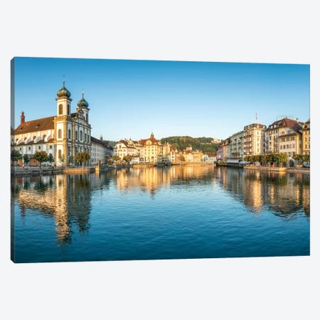 Jesuit Church In The Old Town Of Lucerne Canvas Print #JNB238} by Jan Becke Canvas Art