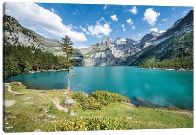 Oeschinen Lake In Switzerland Canvas Art Print