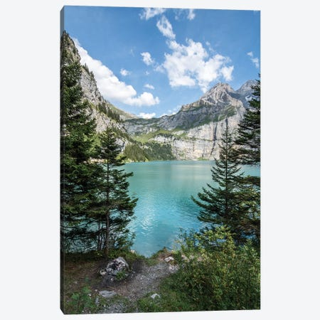 Oeschinen Lake In The Swiss Alps Canvas Print #JNB240} by Jan Becke Canvas Print