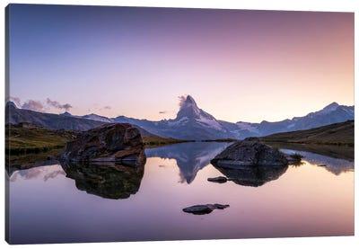 Matterhorn Mountain Reflection In The Stellisee Canvas Art Print