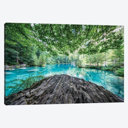 Blausee Lake In The Bernese Oberland Near Kandersteg, Switzerland Canvas Print #JNB243} by Jan Becke Canvas Art Print
