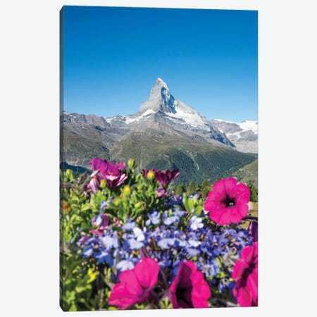 The Matterhorn In Switzerland During Spring Canvas Print #JNB245} by Jan Becke Canvas Art