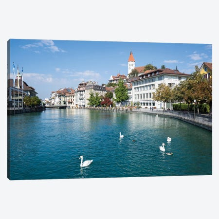 City Of Thun In The Canton Of Bern In Switzerland Canvas Print #JNB247} by Jan Becke Canvas Wall Art