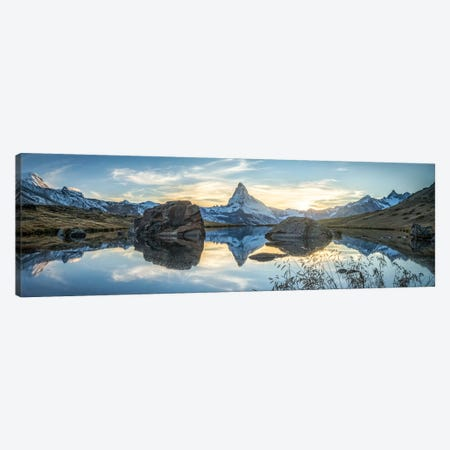 Scenic View Of The Matterhorn And Stellisee In The Swiss Alps Canvas Print #JNB249} by Jan Becke Canvas Art Print