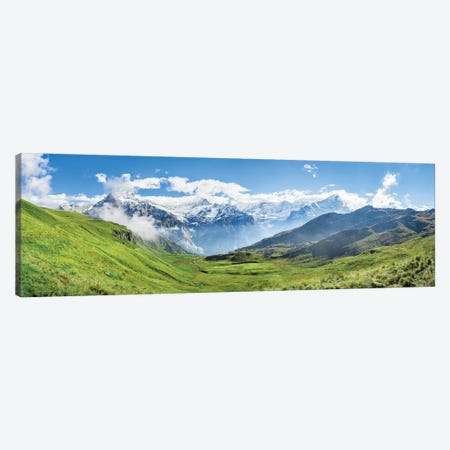 Scenic View Of The Alps Near Grindelwald 3-Piece Canvas #JNB251} by Jan Becke Canvas Artwork