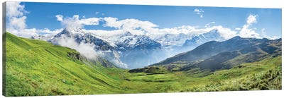 Scenic View Of The Alps Near Grindelwald Canvas Art Print