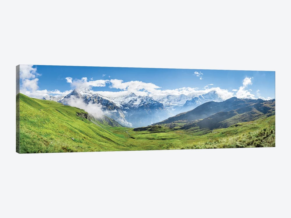 Scenic View Of The Alps Near Grindelwald by Jan Becke 1-piece Canvas Artwork