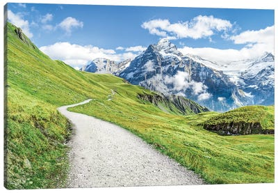 Grindelwald In The Swiss Alps Canvas Art Print
