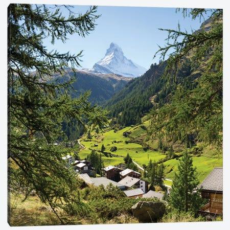 Zermatt Valley With View Of The Matterhorn 3-Piece Canvas #JNB253} by Jan Becke Canvas Art