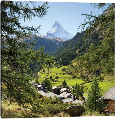 Zermatt Valley With View Of The Matterhorn Canvas Art Print
