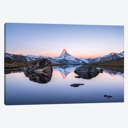 Matterhorn And Stellisee At Sunrise 3-Piece Canvas #JNB260} by Jan Becke Art Print