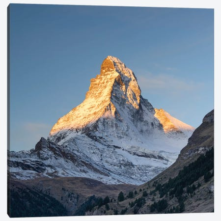 Peak Of The Matterhorn Mountain At Sunrise Canvas Print #JNB262} by Jan Becke Canvas Print