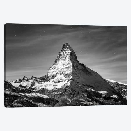 Matterhorn Black And White Canvas Print #JNB264} by Jan Becke Canvas Art