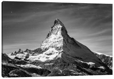 Matterhorn Black And White Canvas Art Print