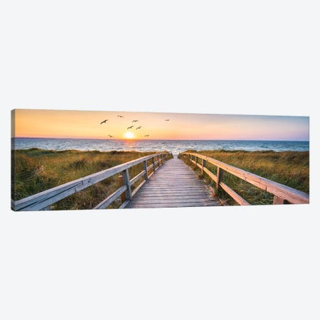 Dune Beach Panorama Canvas Print #JNB26} by Jan Becke Canvas Art