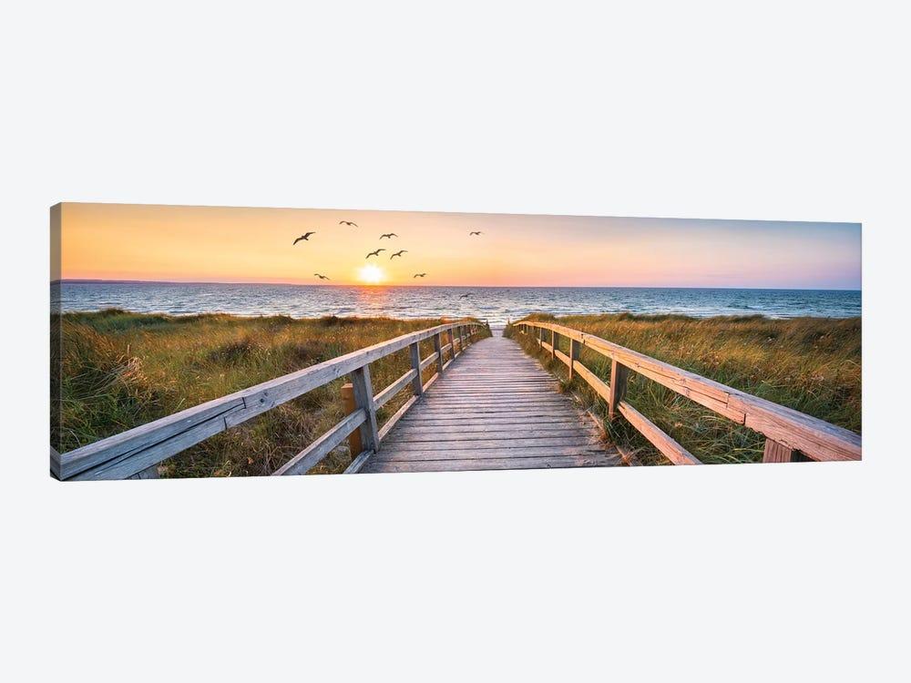 Dune Beach Panorama by Jan Becke 1-piece Canvas Art Print