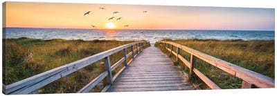 Dune Beach Panorama Canvas Art Print