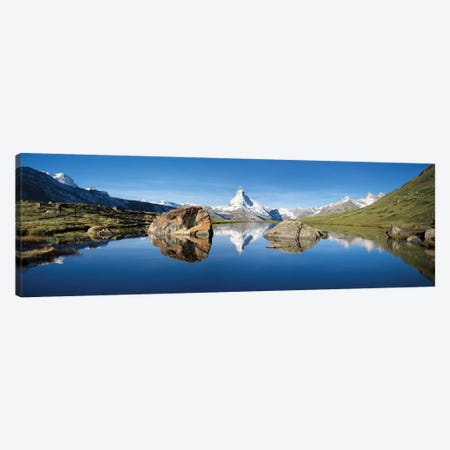 Scenic View Of Matterhorn And Stellisee In Summer Canvas Print #JNB271} by Jan Becke Canvas Art