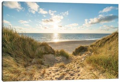 Dune Landscape At The North Sea Coast On Sylt Canvas Art Print