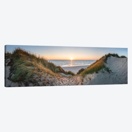 Dune Panorama At Sunset Canvas Print #JNB302} by Jan Becke Canvas Artwork