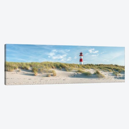 Sylt Panorama With Lighthouse List Ost Canvas Print #JNB305} by Jan Becke Canvas Art Print
