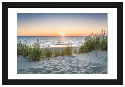 Beautiful Sunset At The Beach Framed Art Print