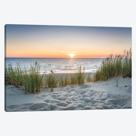 Beautiful Sunset At The Beach Canvas Print #JNB306} by Jan Becke Canvas Print