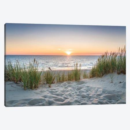 Beautiful Sunset At The Beach Canvas Print #JNB306} by Jan Becke Canvas Print