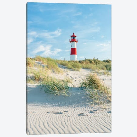 Lighthouse List Ost, Sylt, Schleswig-Holstein, Germany Canvas Print #JNB308} by Jan Becke Canvas Wall Art