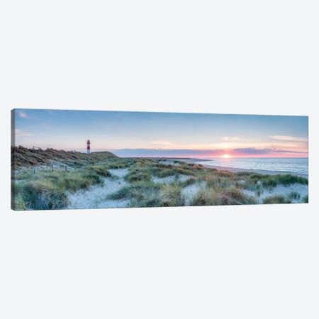 Sunset At The Dune Beach, Sylt, Schleswig-Holstein, Germany Canvas Print #JNB314} by Jan Becke Canvas Artwork
