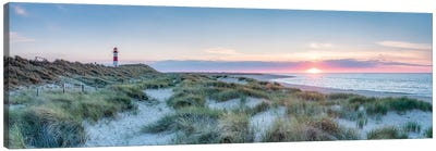 Sunset At The Dune Beach, Sylt, Schleswig-Holstein, Germany Canvas Art Print