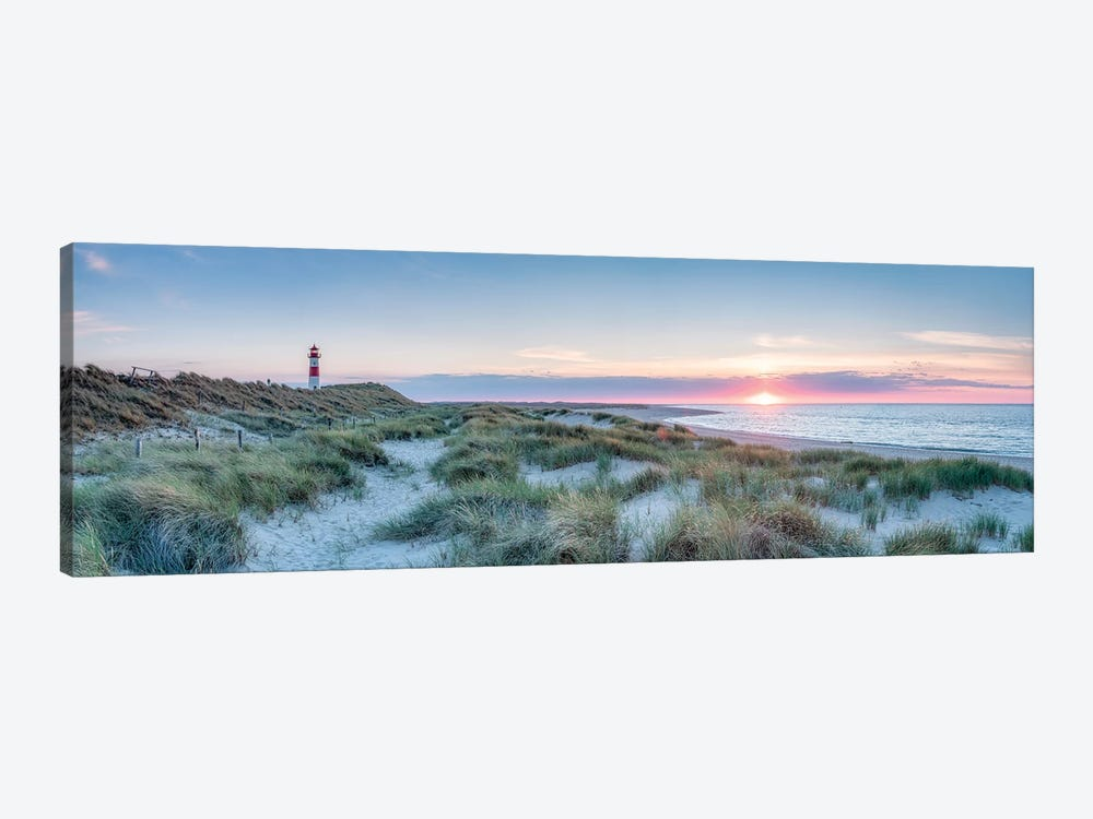 Sunset At The Dune Beach, Sylt, Schleswig-Holstein, Germany by Jan Becke 1-piece Canvas Wall Art