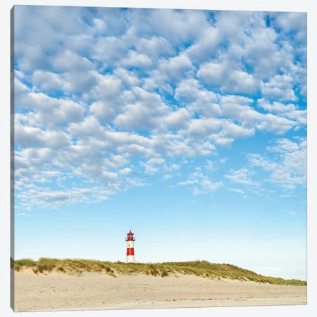 Lighthouse At The Beach, Sylt, Schleswig-Holstein, Germany Canvas Print #JNB317} by Jan Becke Canvas Wall Art